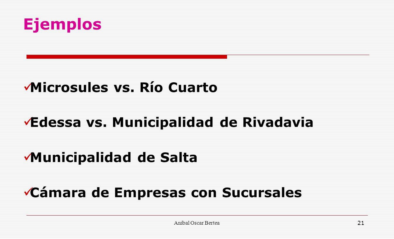 Ejemplos Microsules vs. Río Cuarto