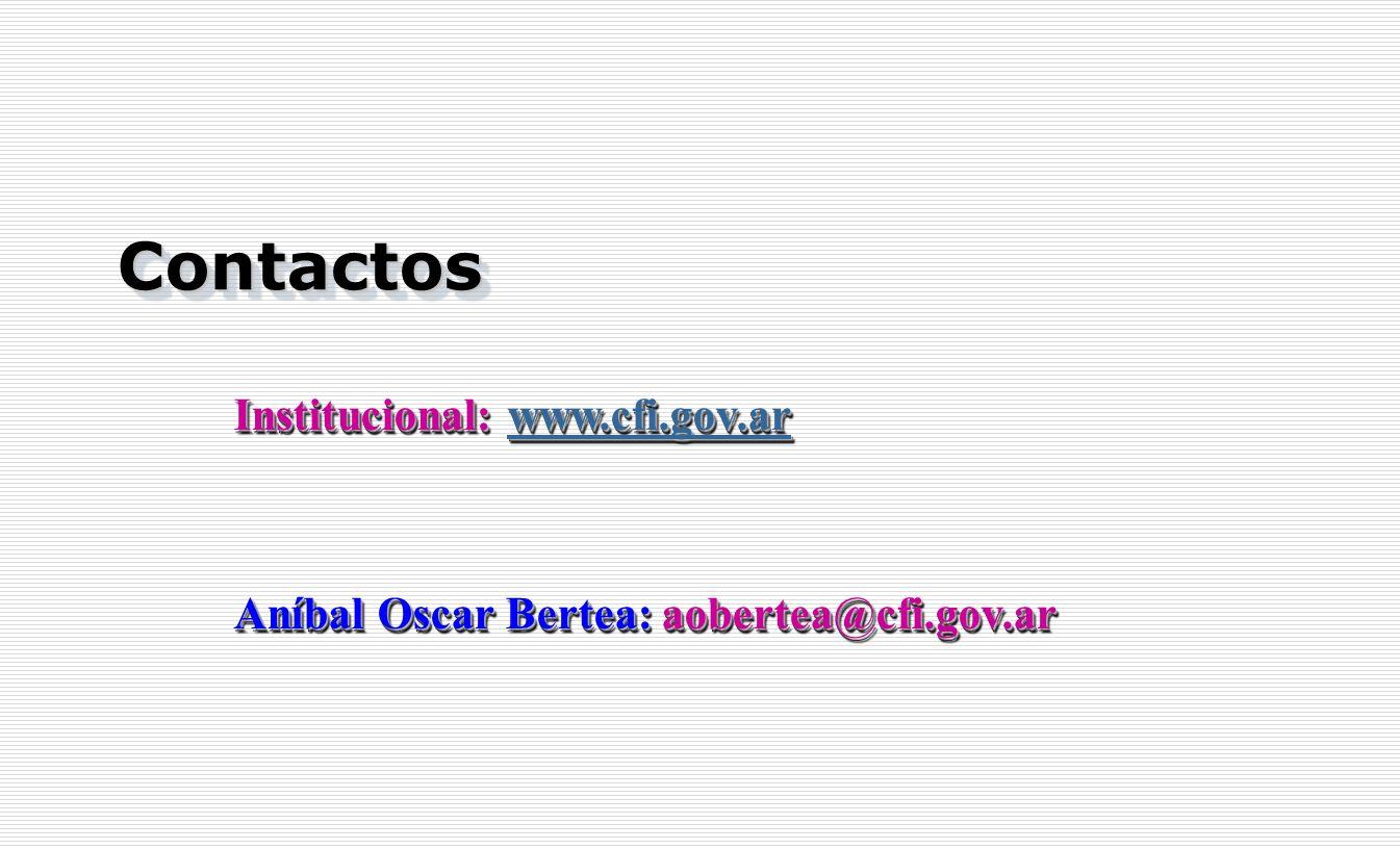 Contactos Institucional: www.cfi.gov.ar