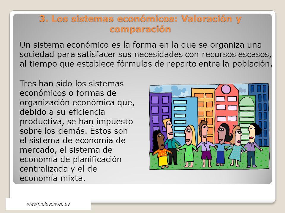 3. Los sistemas económicos: Valoración y comparación