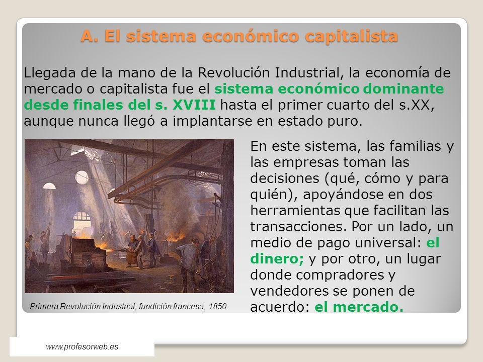 A. El sistema económico capitalista