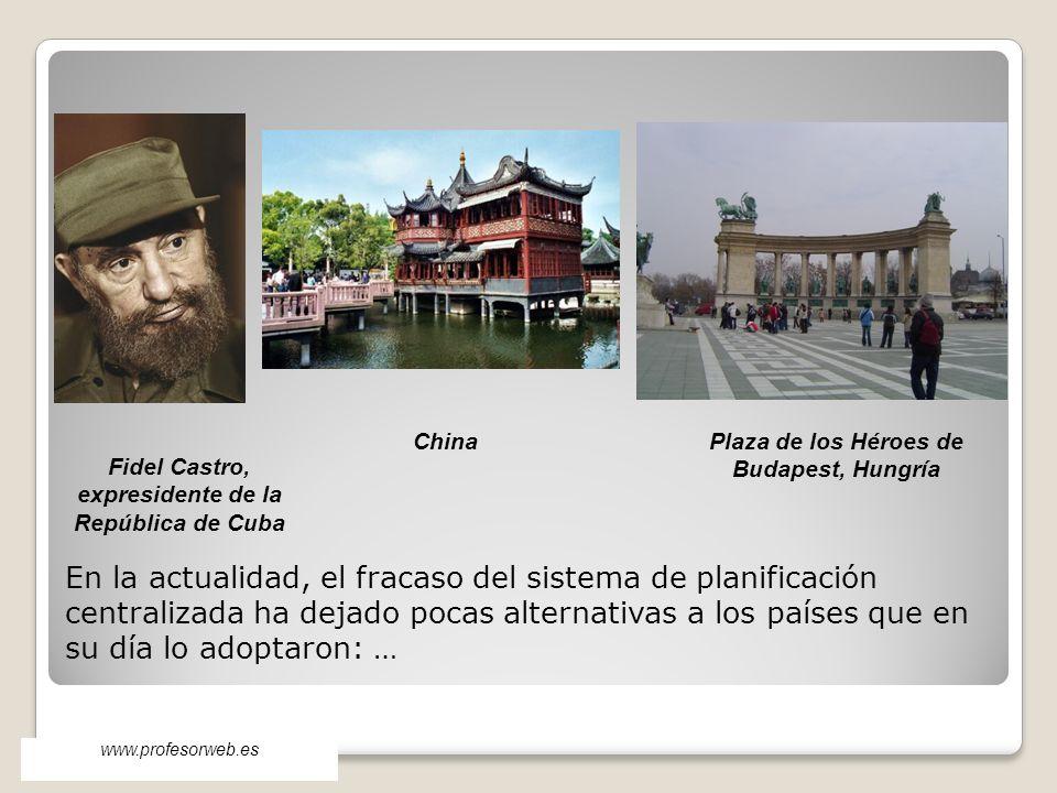 China Plaza de los Héroes de Budapest, Hungría. Fidel Castro, expresidente de la República de Cuba.