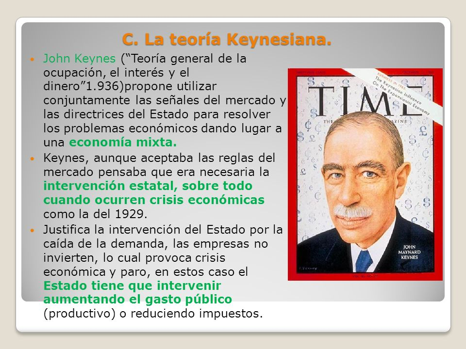 C. La teoría Keynesiana.