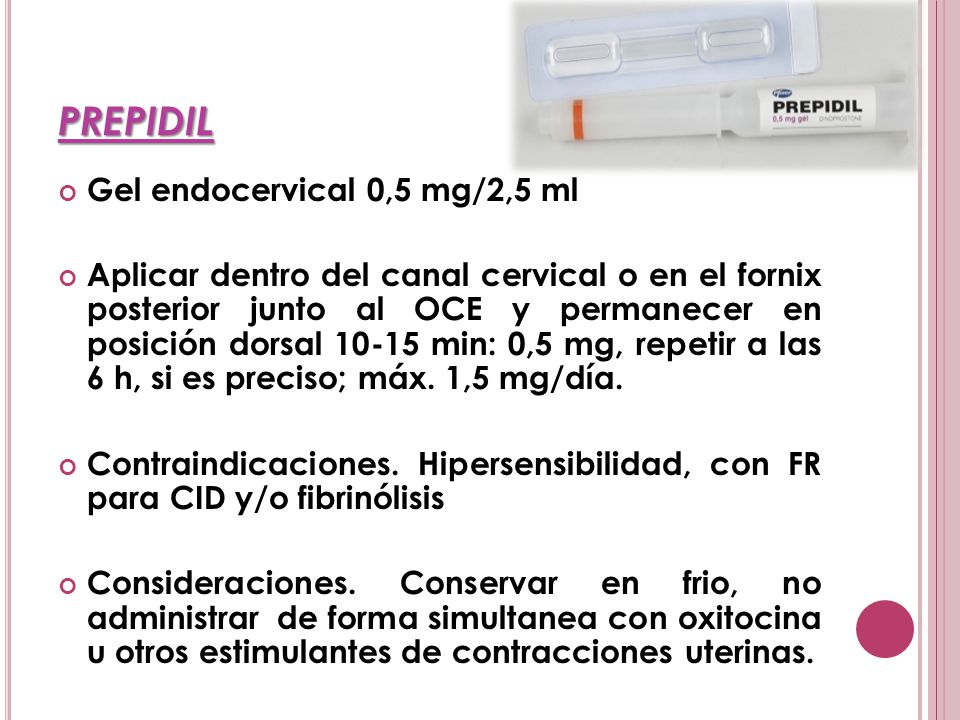 PREPIDIL Gel endocervical 0,5 mg/2,5 ml