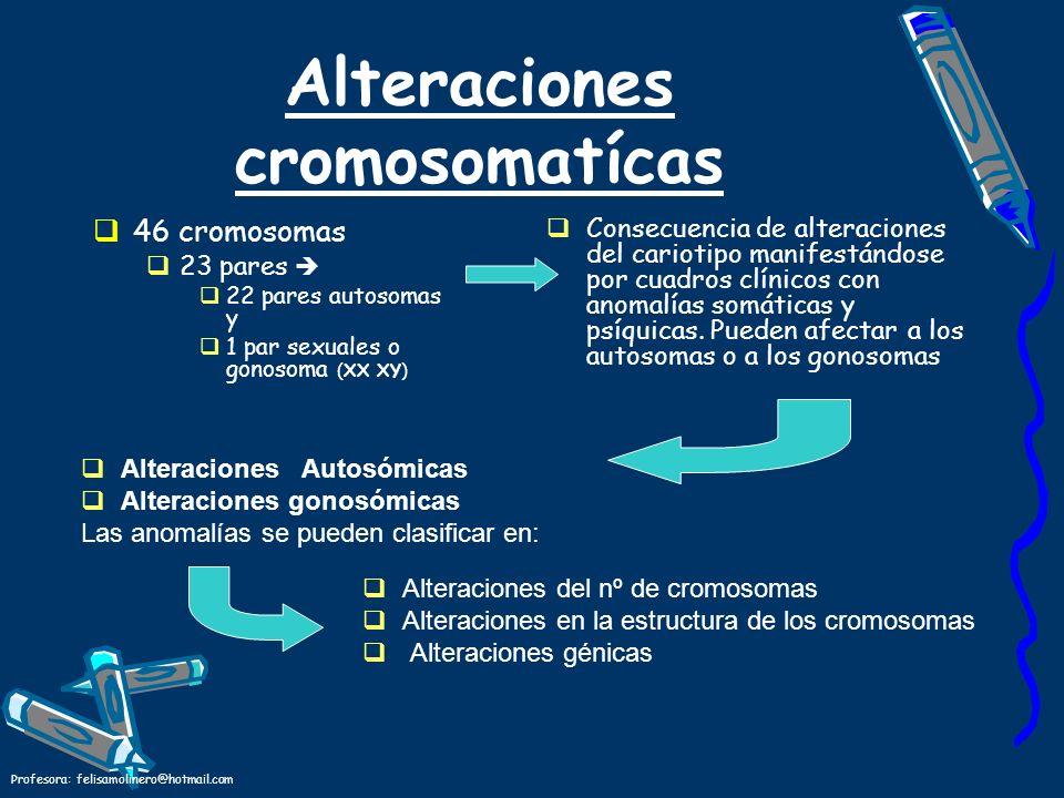 Alteraciones cromosomatícas