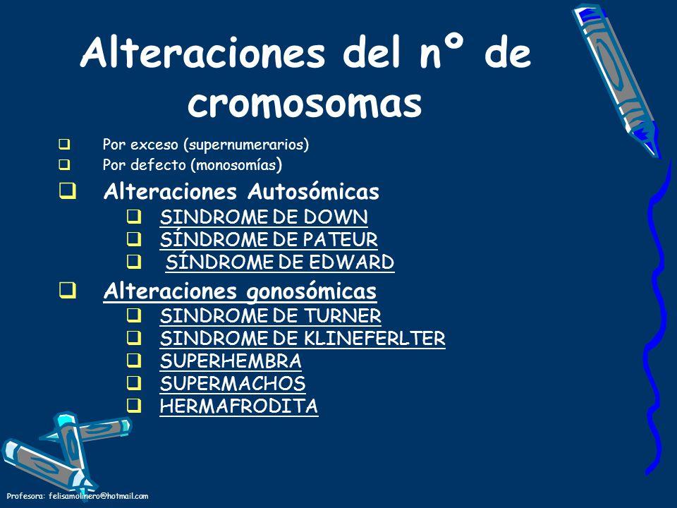 Alteraciones del nº de cromosomas