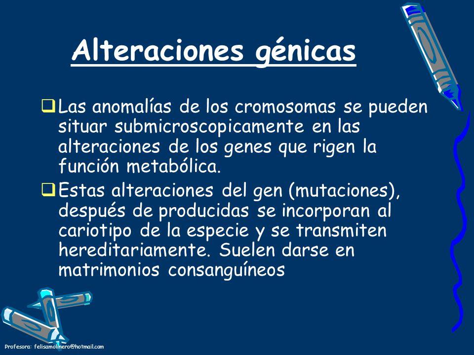 Alteraciones génicas