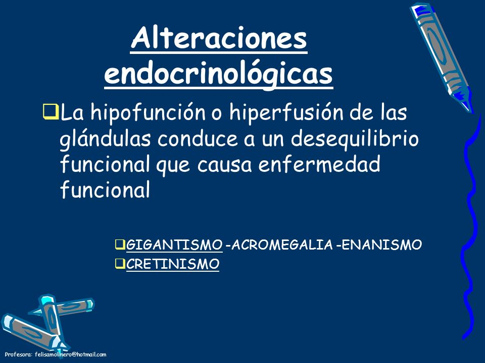Alteraciones endocrinológicas
