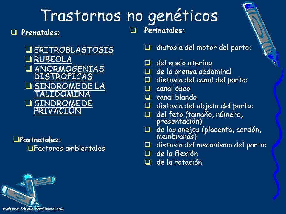 Trastornos no genéticos