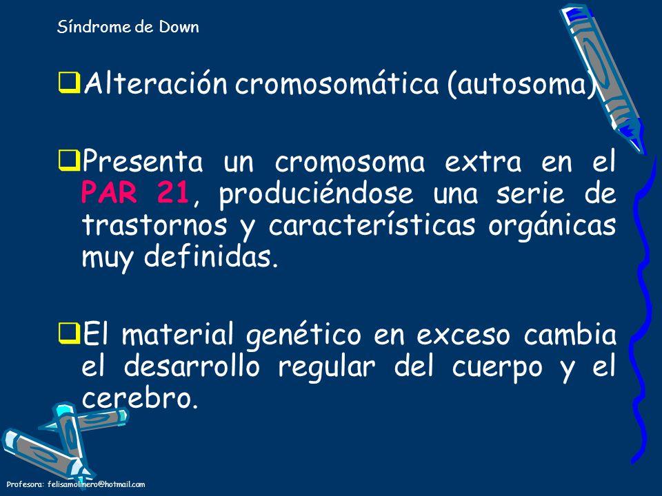 Alteración cromosomática (autosoma)