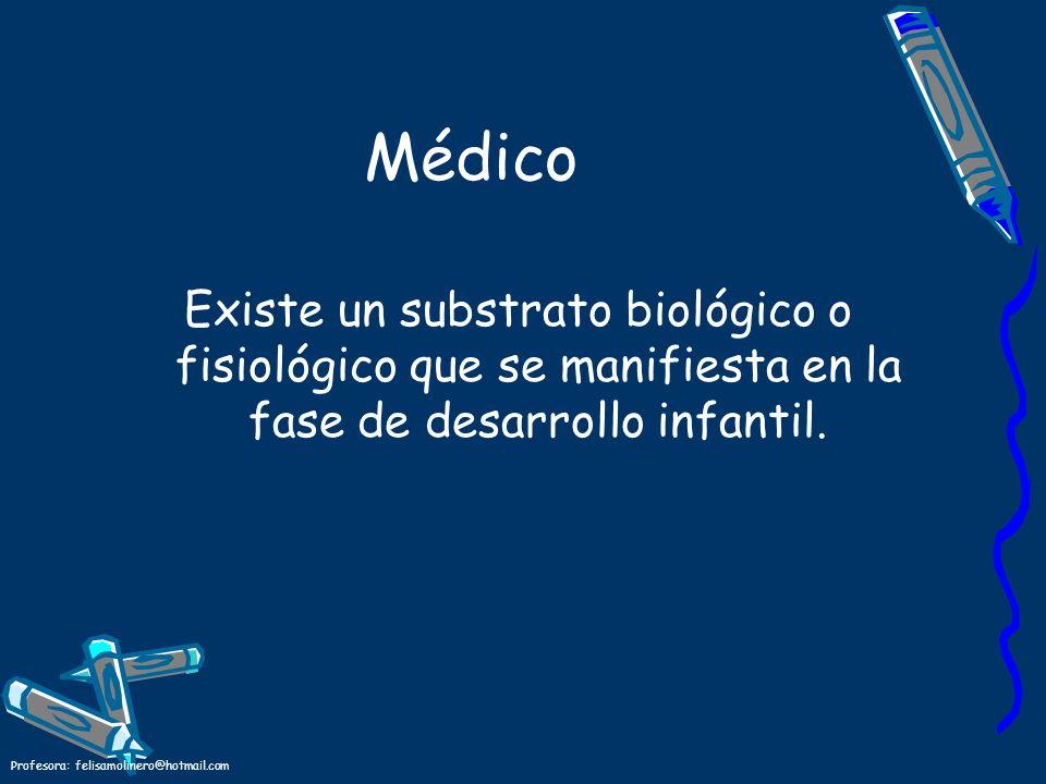 Médico Existe un substrato biológico o fisiológico que se manifiesta en la fase de desarrollo infantil.