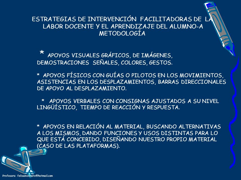 ESTRATEGIAS DE INTERVENCIÓN FACILITADORAS DE LA