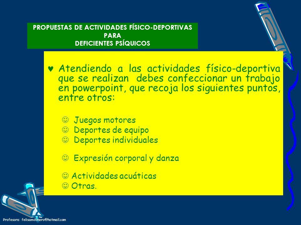 PROPUESTAS DE ACTIVIDADES FÍSICO-DEPORTIVAS PARA DEFICIENTES PSÍQUICOS