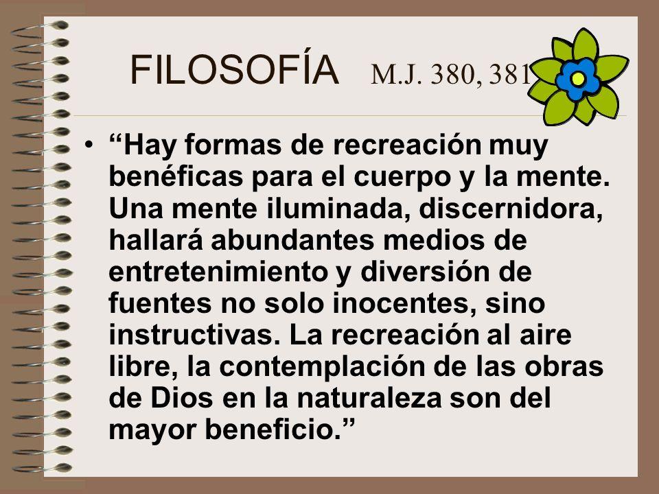 FILOSOFÍA M.J. 380, 381.