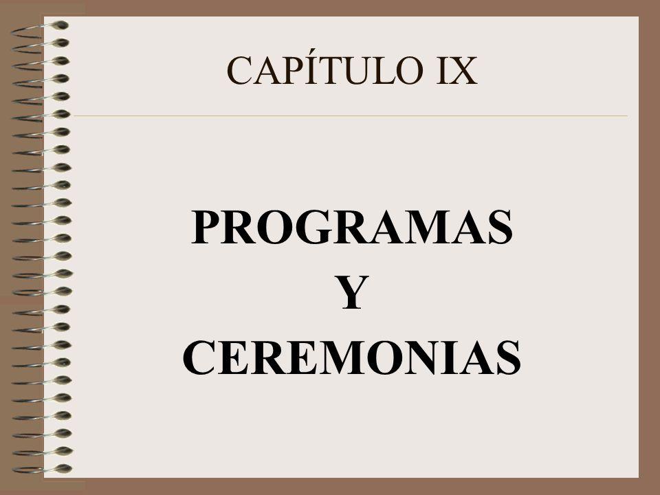 PROGRAMAS Y CEREMONIAS