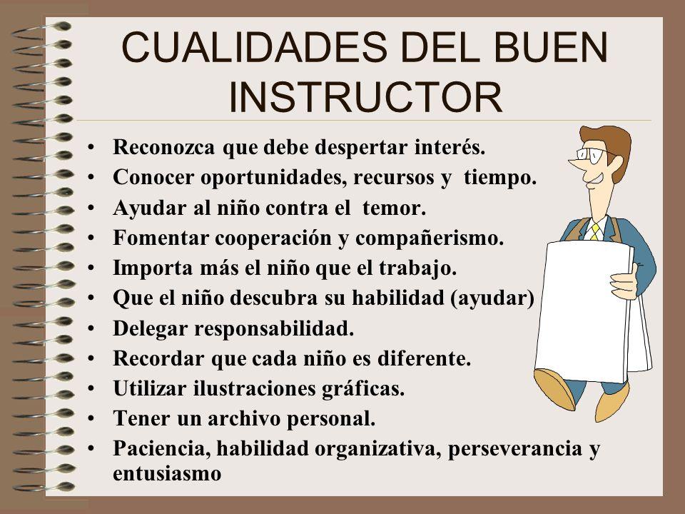 CUALIDADES DEL BUEN INSTRUCTOR