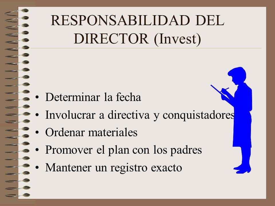 RESPONSABILIDAD DEL DIRECTOR (Invest)