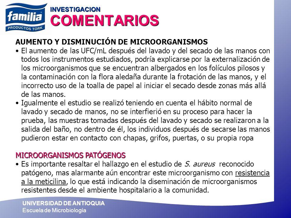 INVESTIGACION COMENTARIOS
