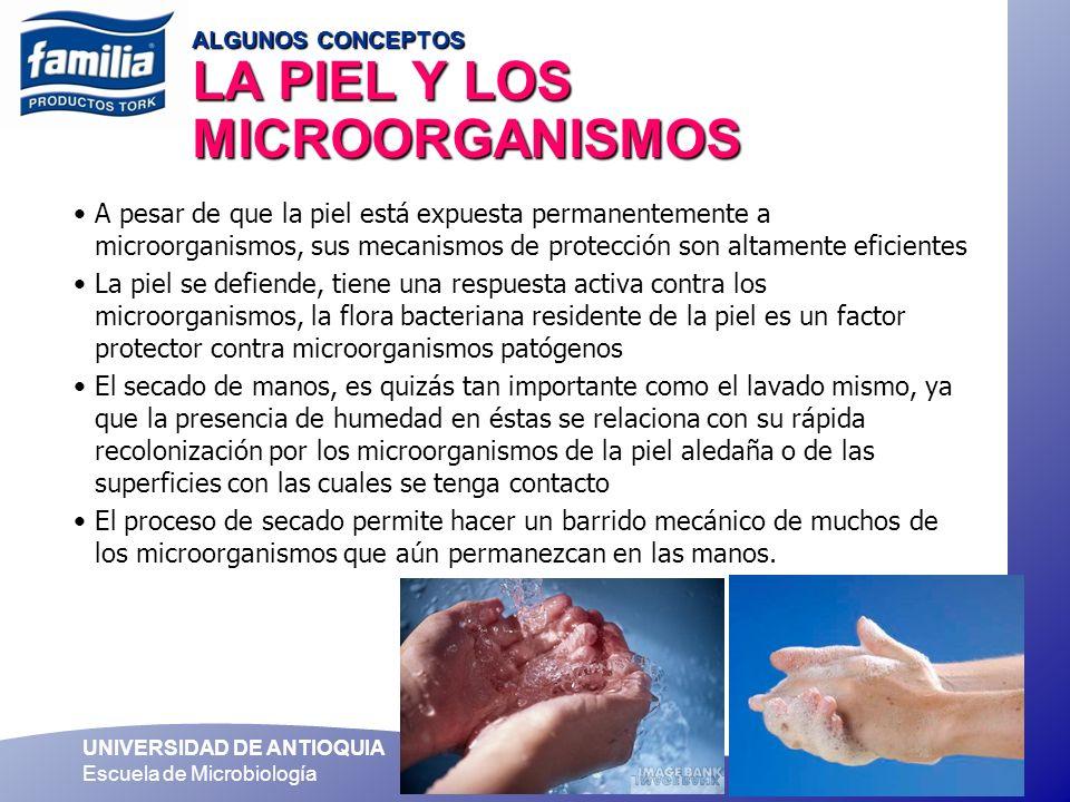 ALGUNOS CONCEPTOS LA PIEL Y LOS MICROORGANISMOS