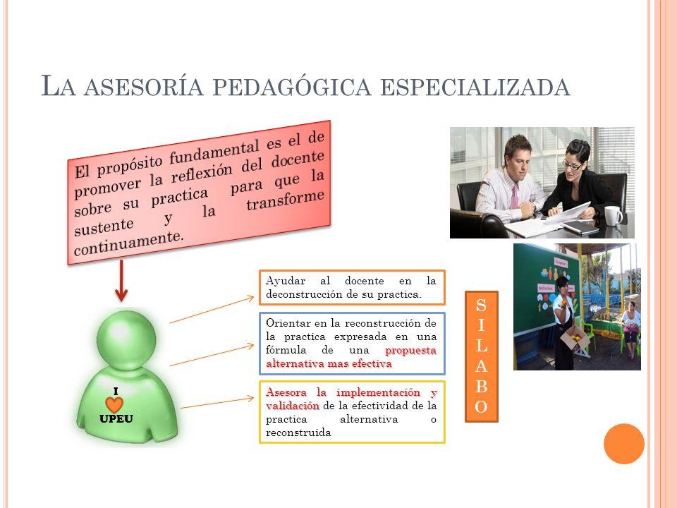 La asesoría pedagógica especializada