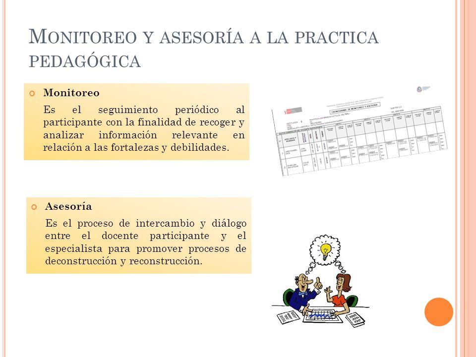 Monitoreo y asesoría a la practica pedagógica