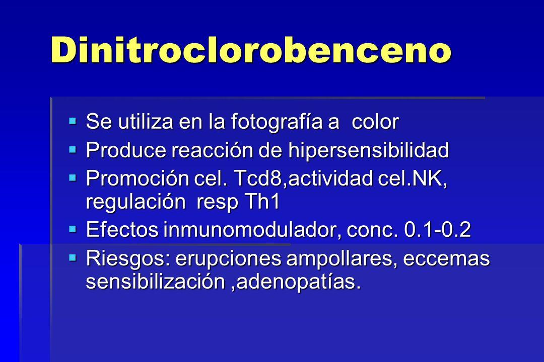 Dinitroclorobenceno Se utiliza en la fotografía a color