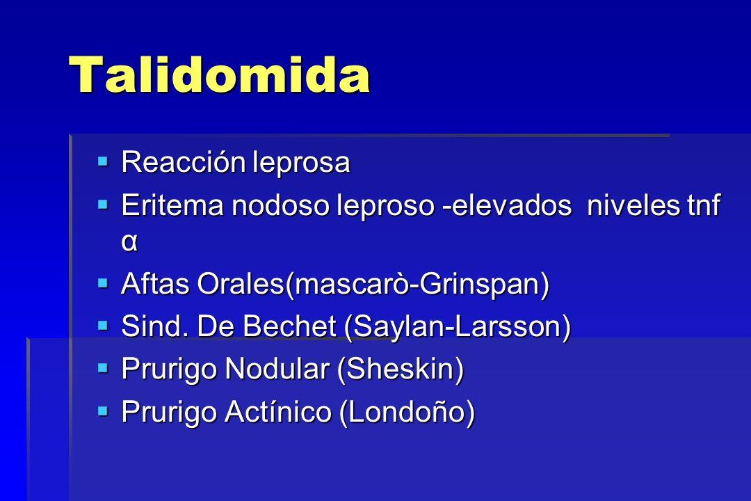 Talidomida Reacción leprosa