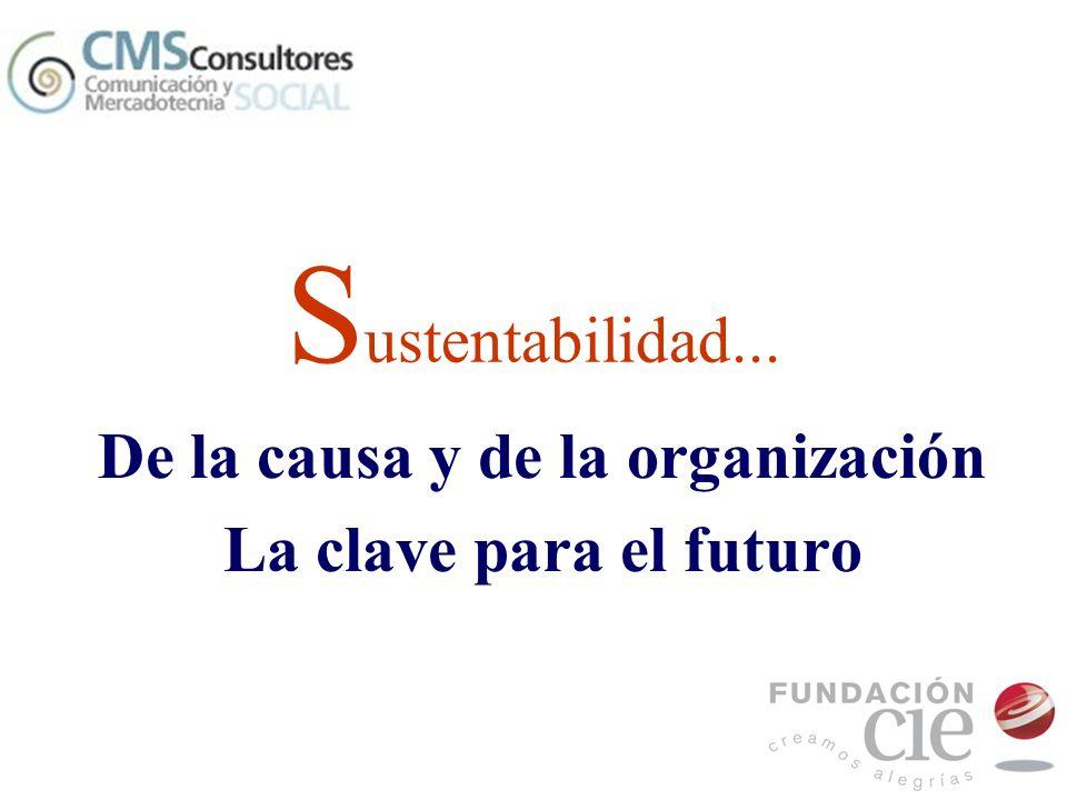 De la causa y de la organización La clave para el futuro