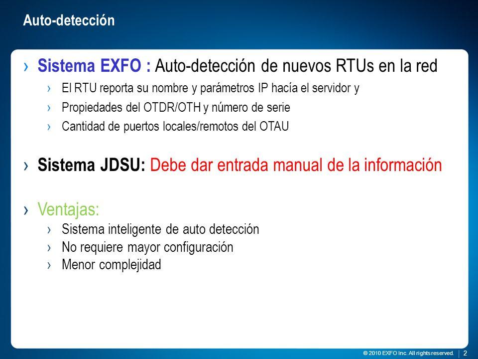 Sistema EXFO : Auto-detección de nuevos RTUs en la red