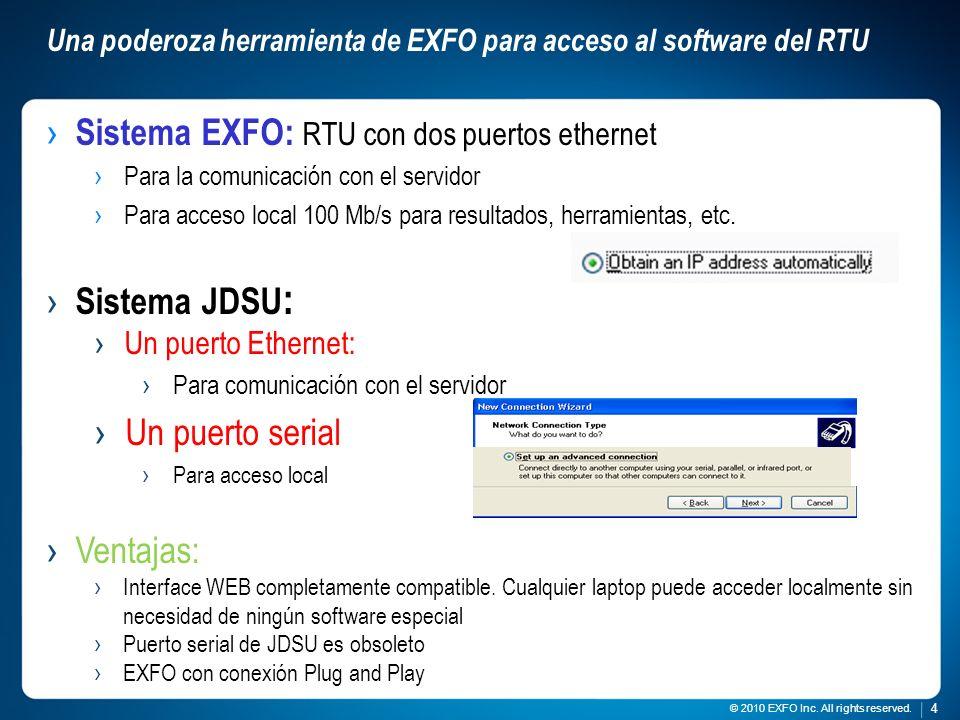 Una poderoza herramienta de EXFO para acceso al software del RTU