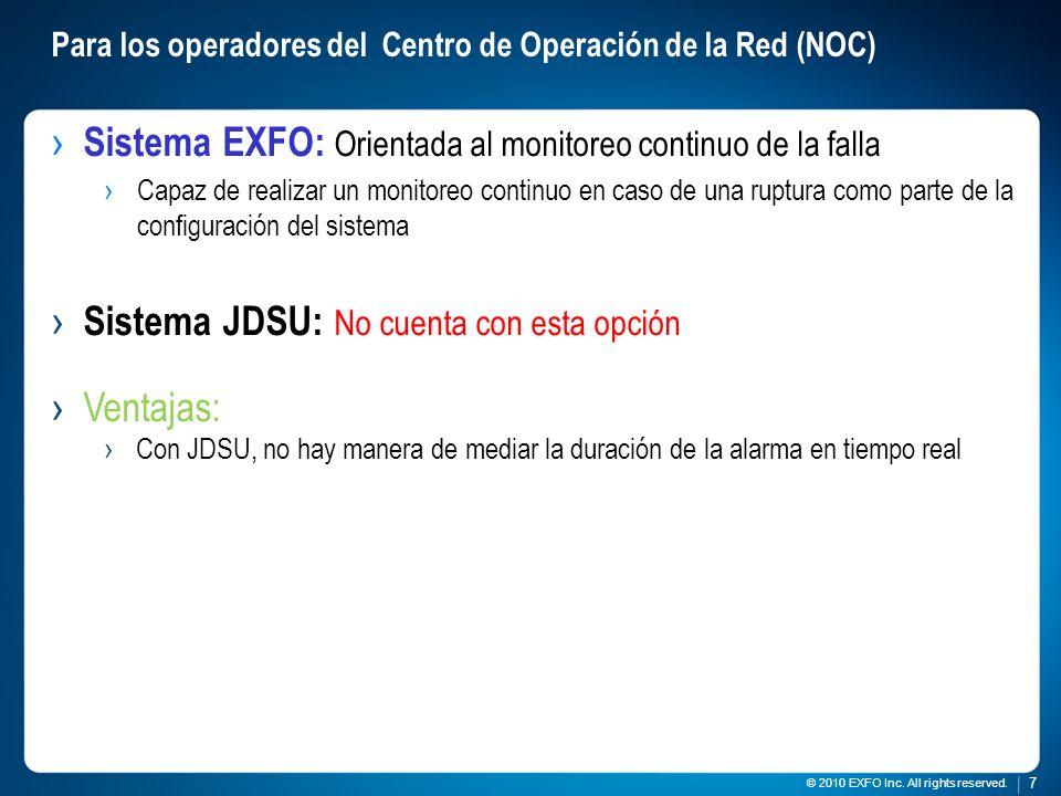 Para los operadores del Centro de Operación de la Red (NOC)