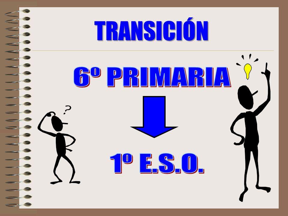 TRANSICIÓN 6º PRIMARIA 1º E.S.O.