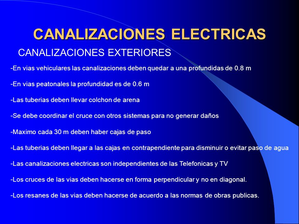 CANALIZACIONES ELECTRICAS