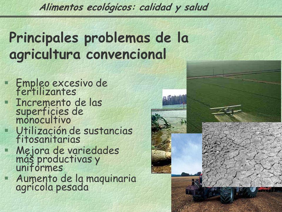 Principales problemas de la agricultura convencional