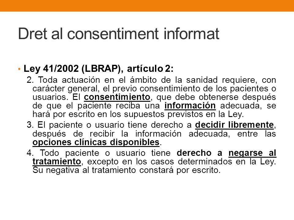 Dret al consentiment informat