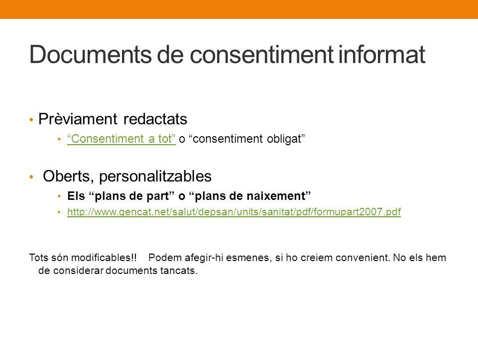 Documents de consentiment informat