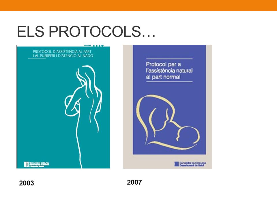 ELS PROTOCOLS… 2003 2007