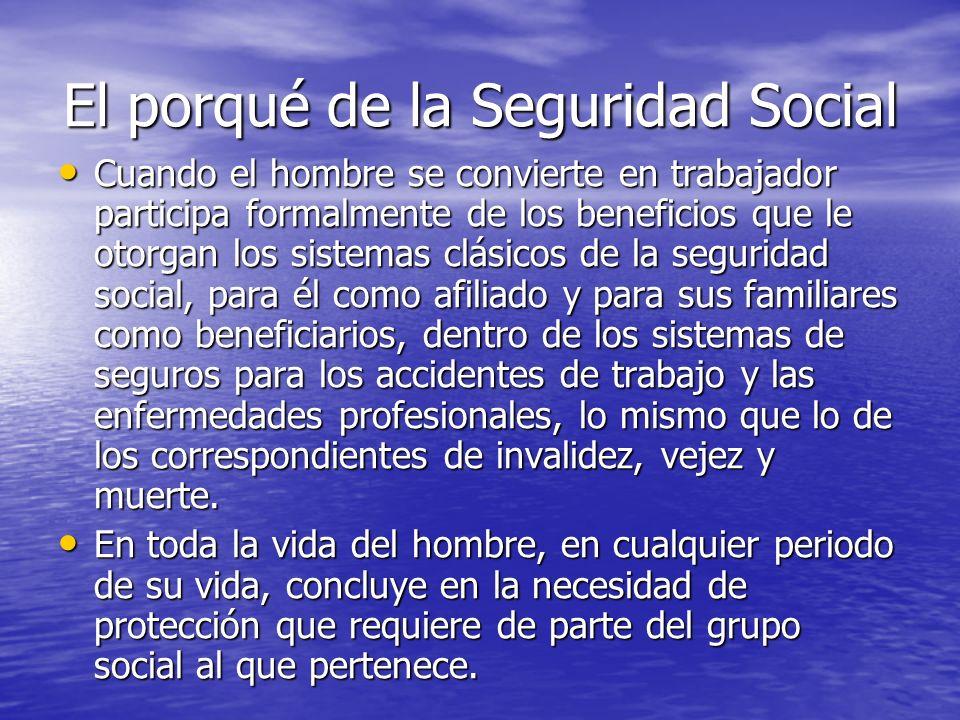 El porqué de la Seguridad Social