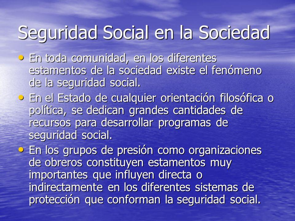 Seguridad Social en la Sociedad