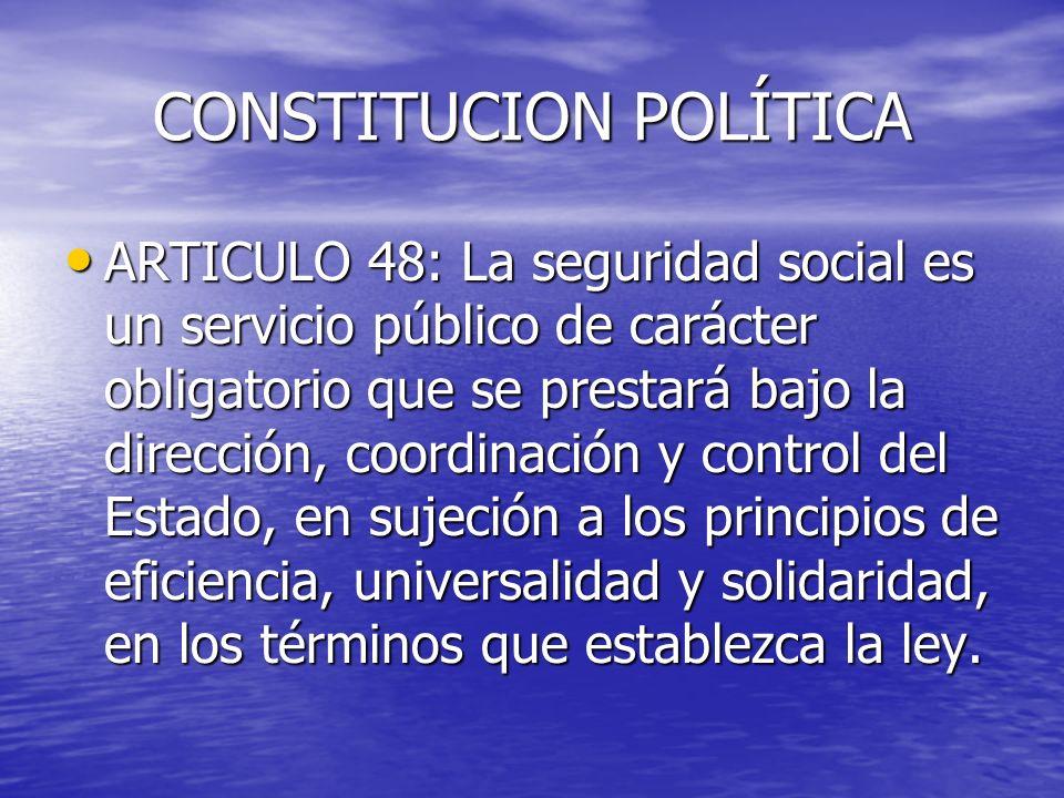 CONSTITUCION POLÍTICA