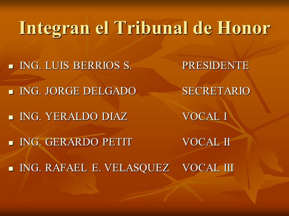 Integran el Tribunal de Honor