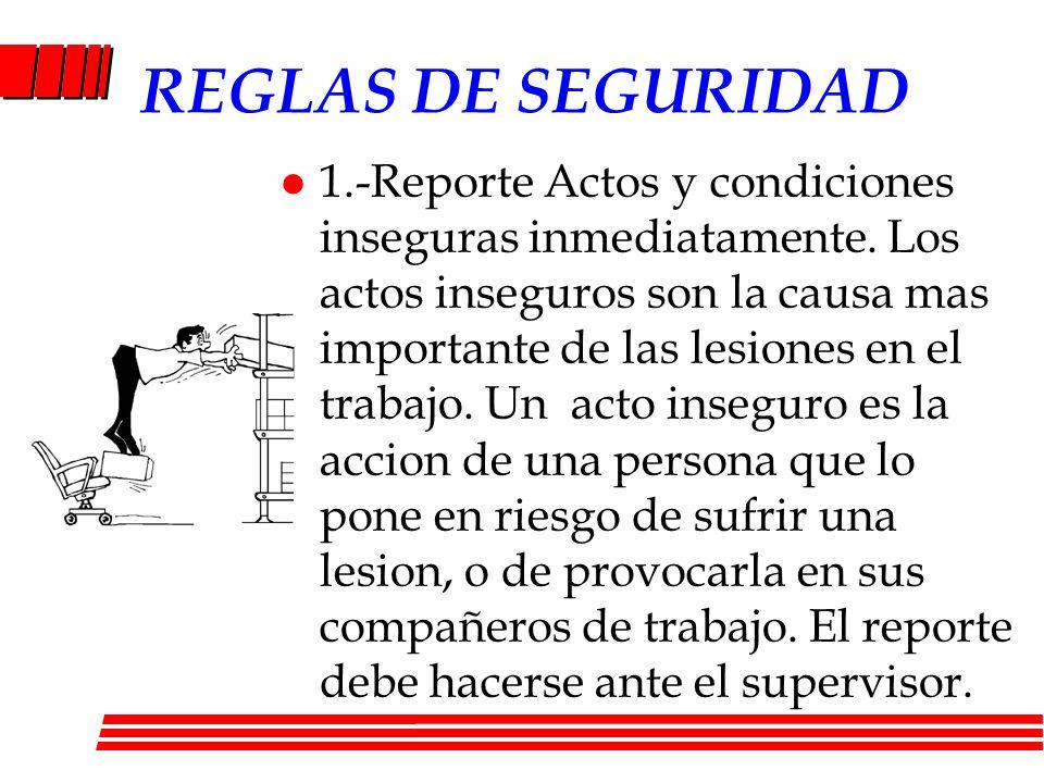 REGLAS DE SEGURIDAD