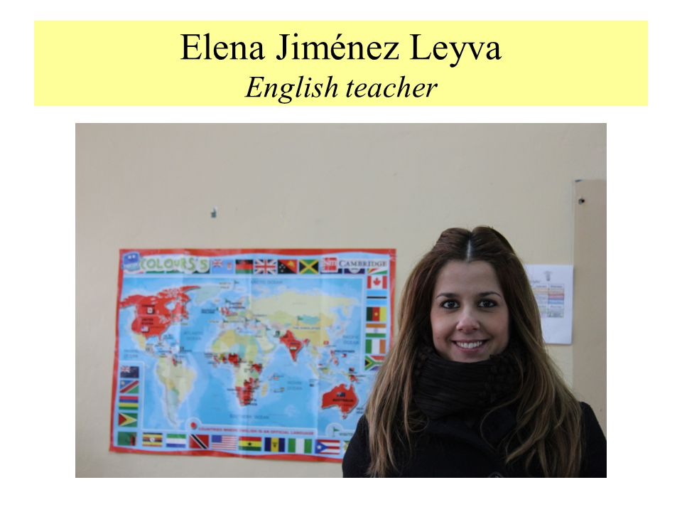 Elena Jiménez Leyva English teacher