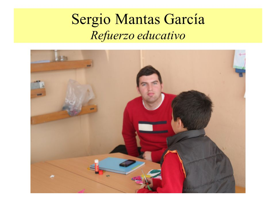 Sergio Mantas García Refuerzo educativo