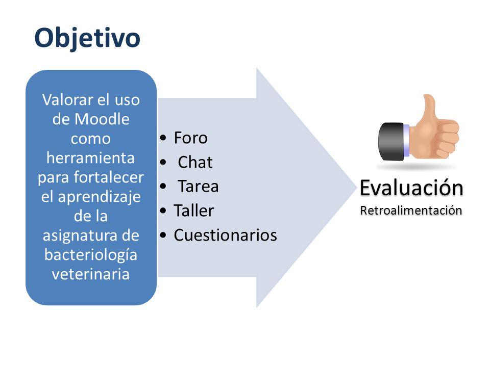 Objetivo Evaluación Foro Chat Tarea Taller Cuestionarios