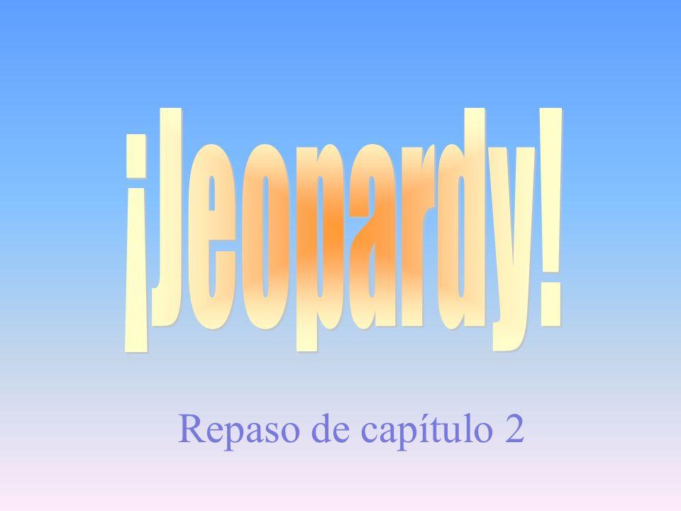 ¡Jeopardy! Repaso de capítulo 2