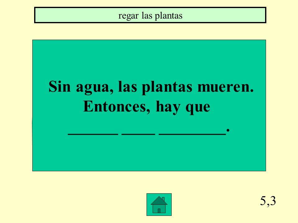 Sin agua, las plantas mueren.