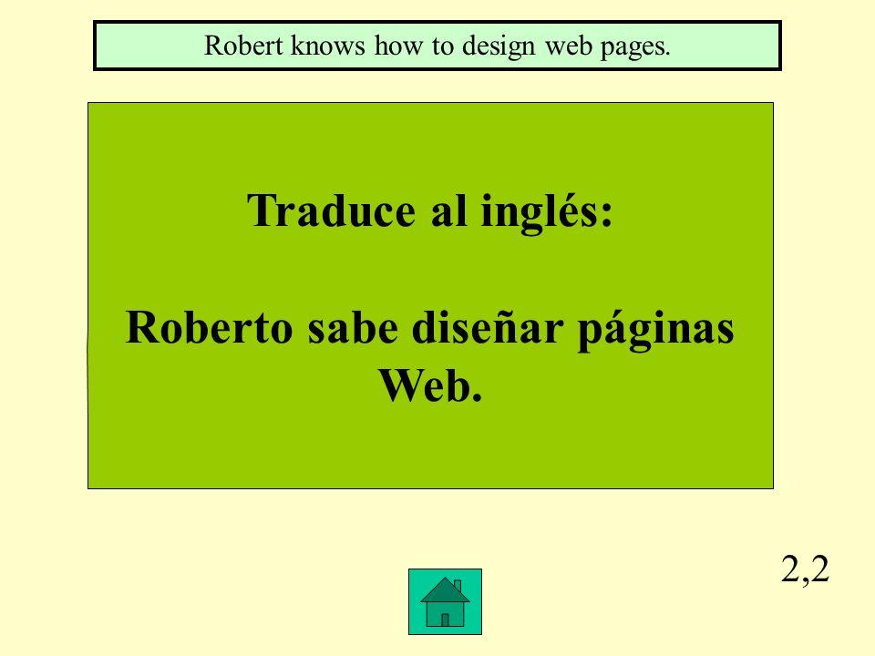 Roberto sabe diseñar páginas