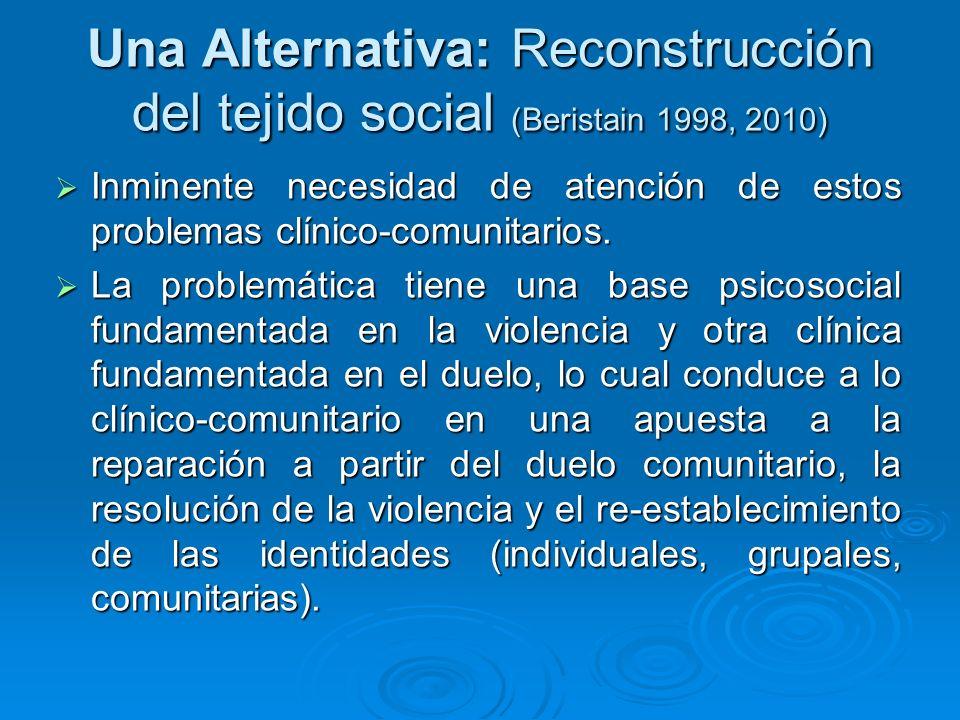Una Alternativa: Reconstrucción del tejido social (Beristain 1998, 2010)