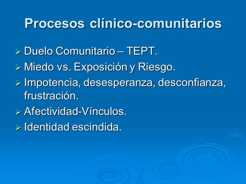 Procesos clínico-comunitarios