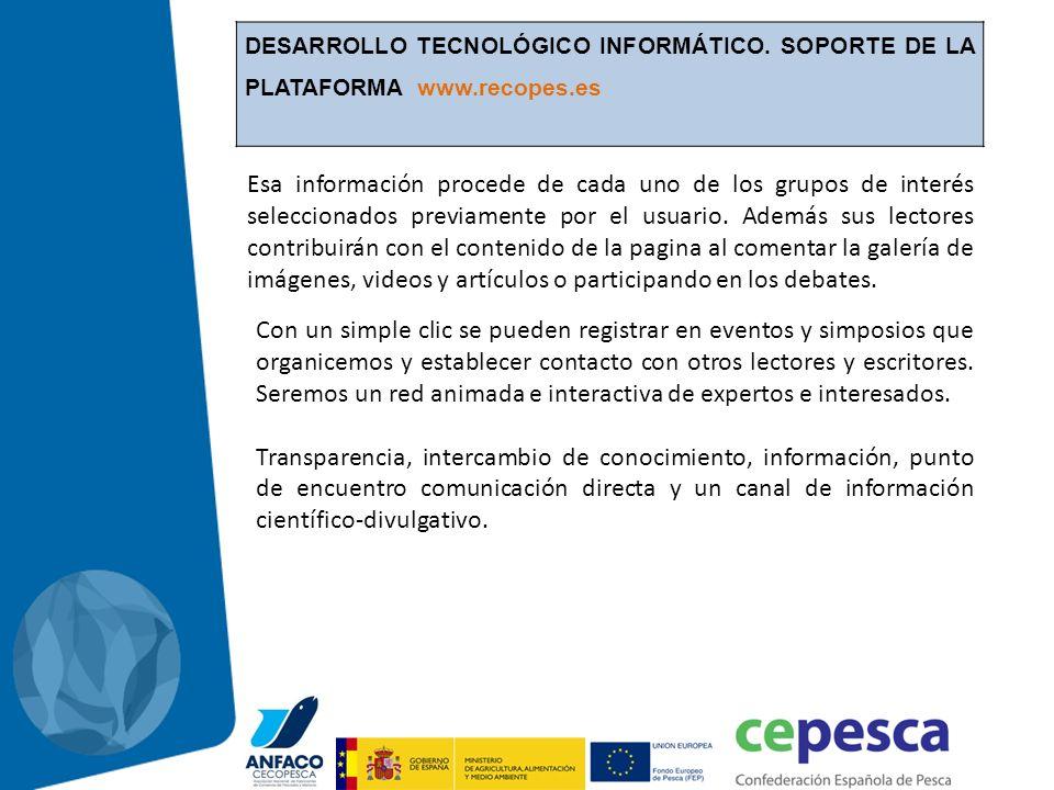 DESARROLLO TECNOLÓGICO INFORMÁTICO. SOPORTE DE LA PLATAFORMA www